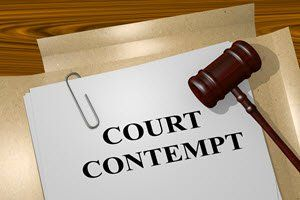 contempt of court in civil matters