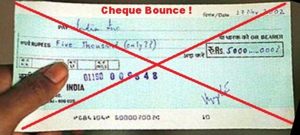 Image result for cheque bounce